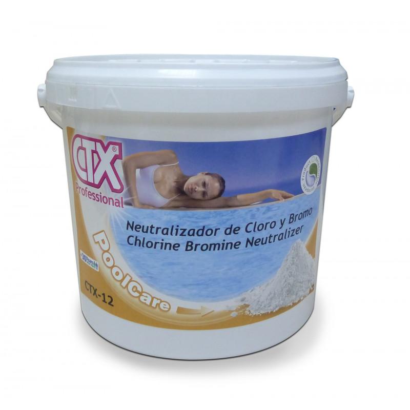 Neutralizador de cloro y bromo ctx 12 6 kg 03211 for Pastillas de bromo para piscinas