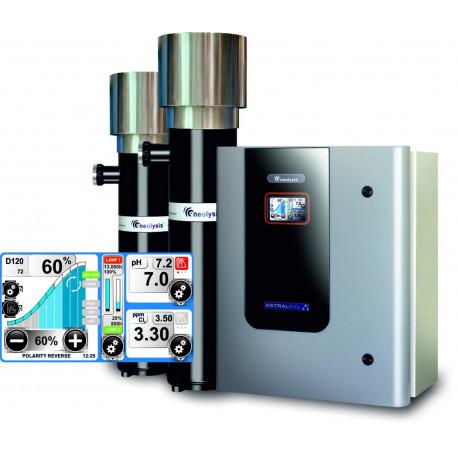 Electrolisis salina AP 80Gr/h +UV 90 W + control int. PH/CL