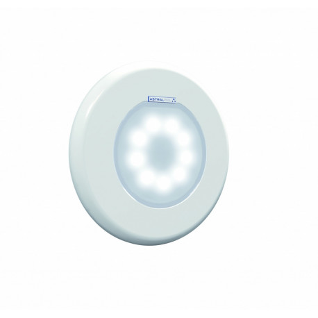 Conjunto AstralPool embellecedor blanco + punto de luz blanco