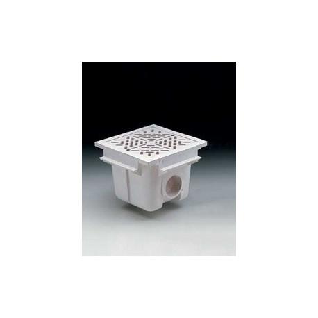SUMIDERO 210x210 mm PISC. HORM. ABS SAL. 2'' REJILLA ABS